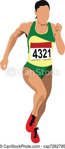 Long-distance runner. Short-distan - csp7262795