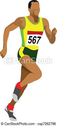 Long-distance runner. Short-distan - csp7262796
