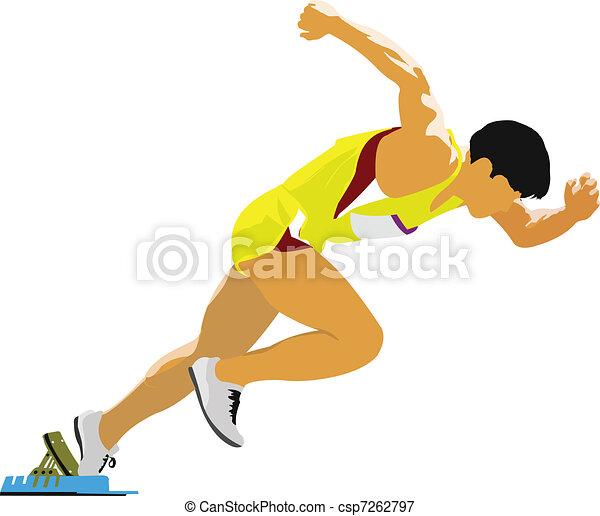 Long-distance runner. Short-distan - csp7262797