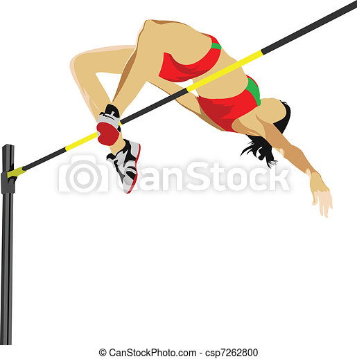 Man high jumping. Track and field.  - csp7262800