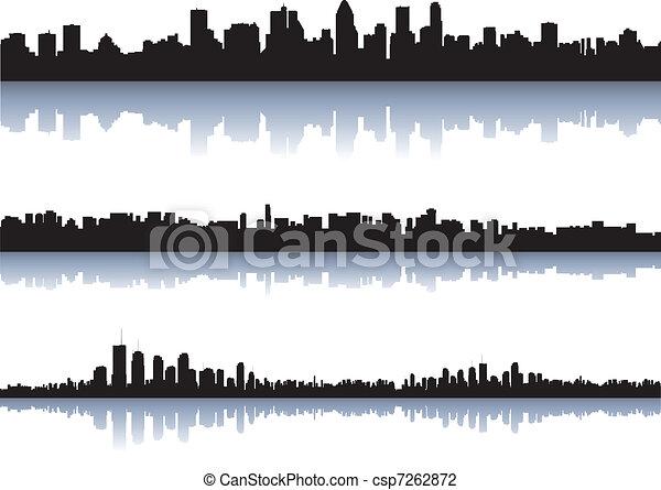 City silhouettes - csp7262872