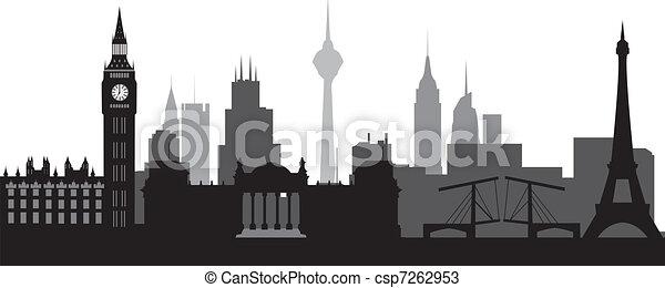 world skyline - csp7262953