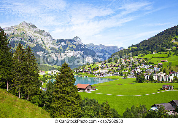 Engelberg village in Switzerland - csp7262958