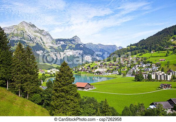 Engelberg village in Switzerland - csp7262958