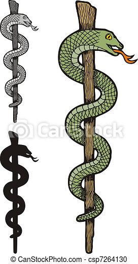 One snake caduceus - csp7264130