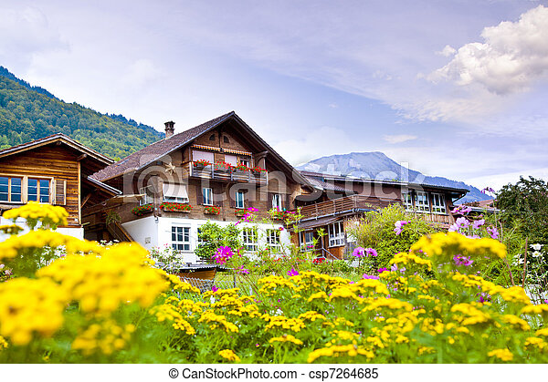 Brienz village in Switzerland - csp7264685