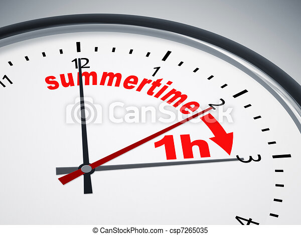 daylight saving time - csp7265035