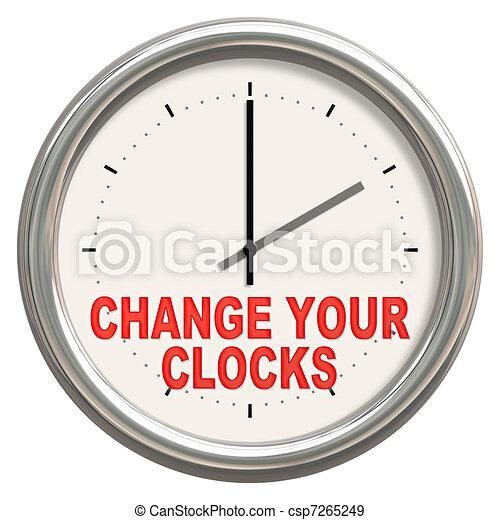 change your clocks - csp7265249