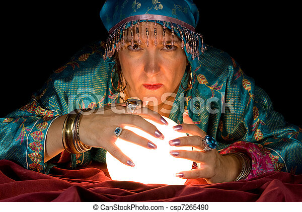 Fortune Teller and Crystal Ball - csp7265490