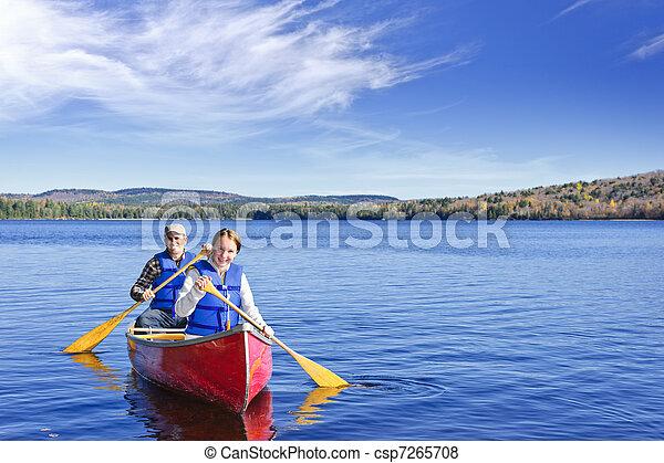 Family canoe trip - csp7265708