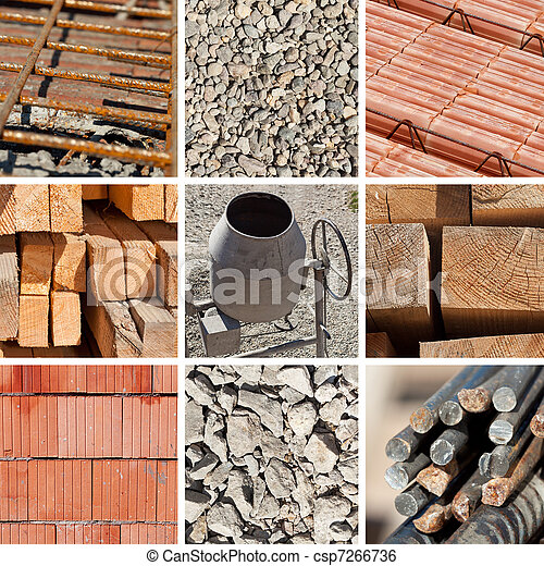 Construction materials collage - csp7266736