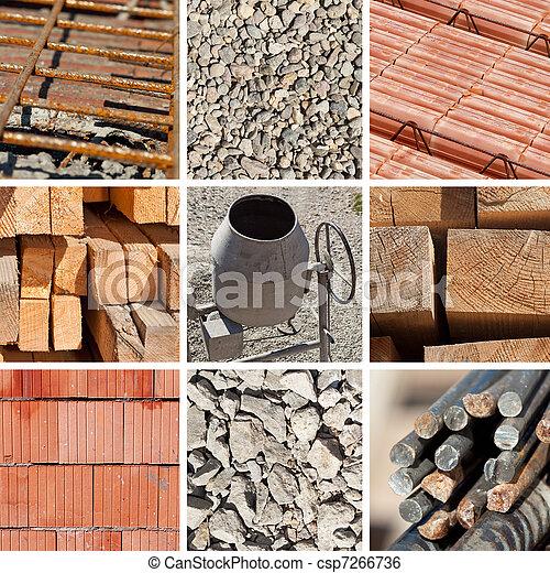 Construction materials collage - csp7266736
