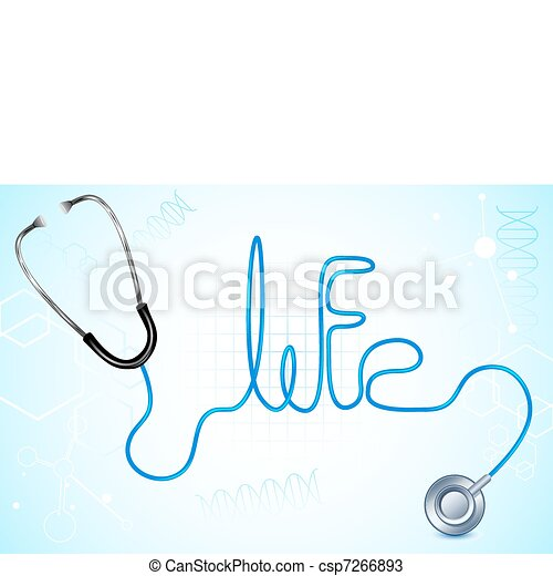 Life with Stethescope - csp7266893