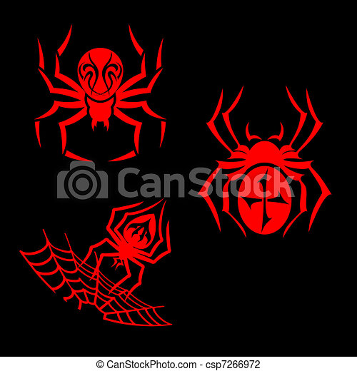 Spiders tattoo - csp7266972