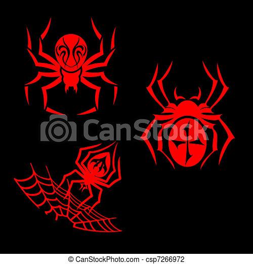 Spiders tattoo - csp7266972