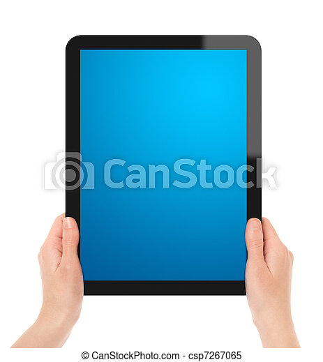 Holding Touch Screen Tablet - csp7267065