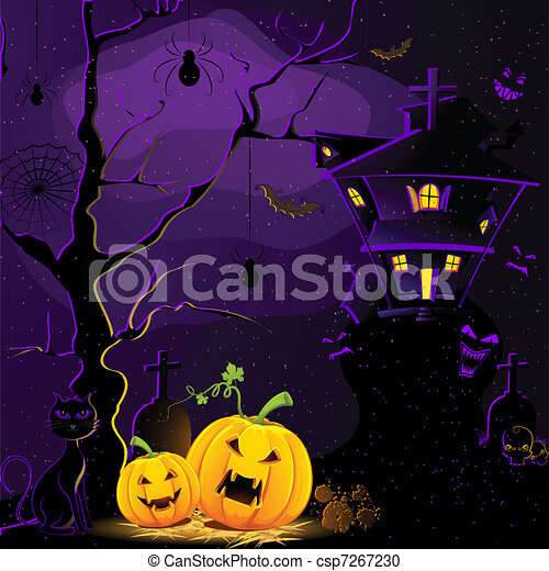 Halloween Night - csp7267230