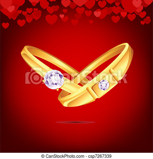 Eps Vectors Of Engagement Ring Illustration Of Pair Of