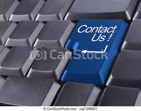 contact us or support concept - csp7268261