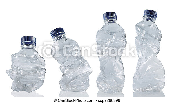 collection of empty used plastic bottles - csp7268396