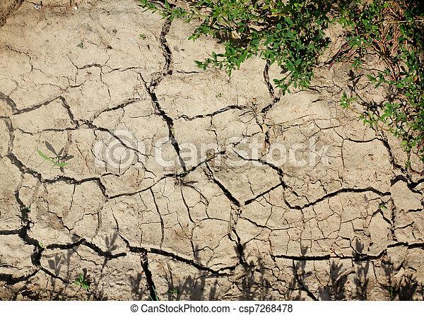 estéril, suelo agrietado - csp7268478