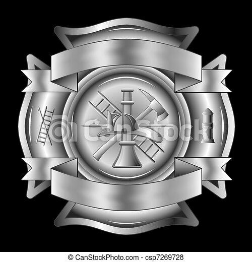 Firefighter Cross Silver - csp7269728