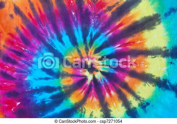 Bright Tie Dye Pattern - csp7271054