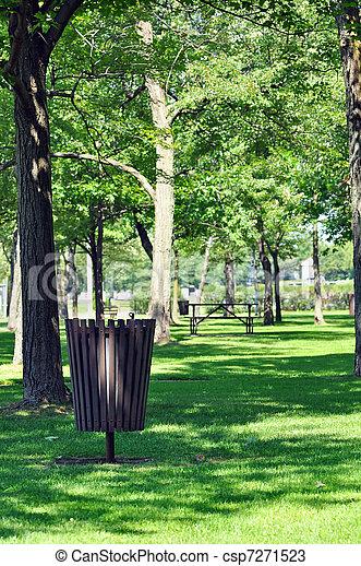 mantener, parque, limpio - csp7271523
