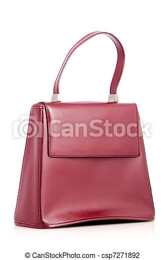 Woman red bag - csp7271892