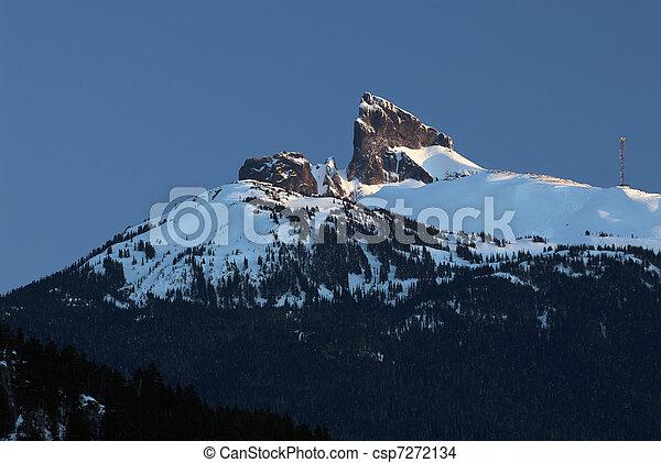 Black Tusk peak in winter - csp7272134