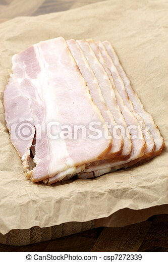 cured delicious bacon - csp7272339