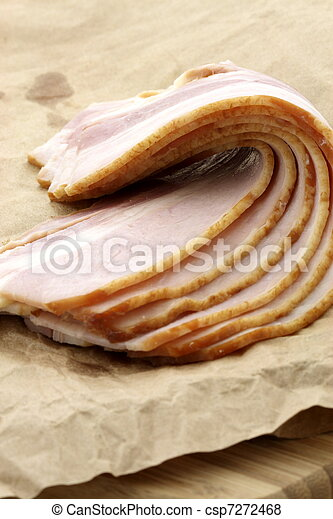 cured delicious bacon - csp7272468