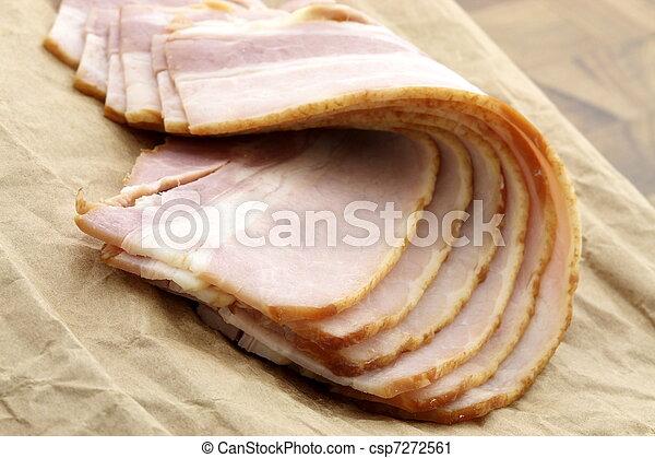 cured delicious bacon - csp7272561