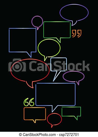 Neon word balloons - csp7272701