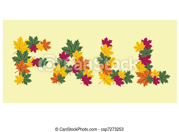 Autumn leaves written texture - csp7273253