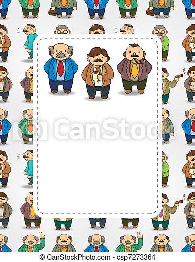 cartoon boss and Manager card - csp7273364