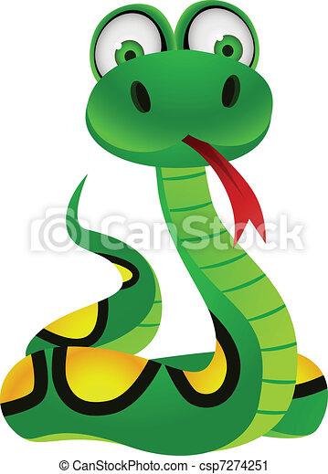 Snake cartoon character - csp7274251