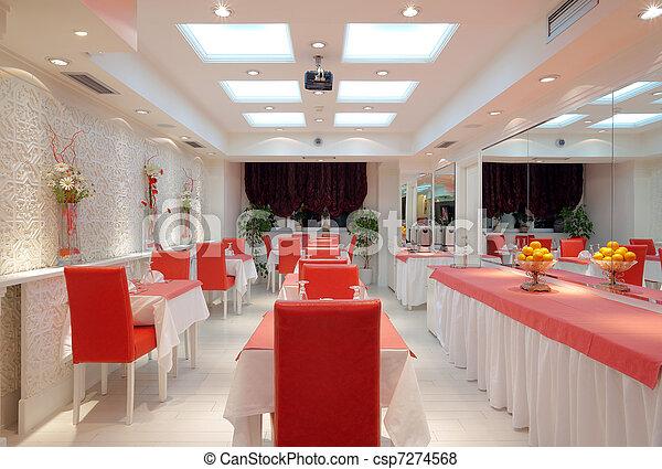 Fotos de interior restaurante interior de um for Planos de restaurantes modernos