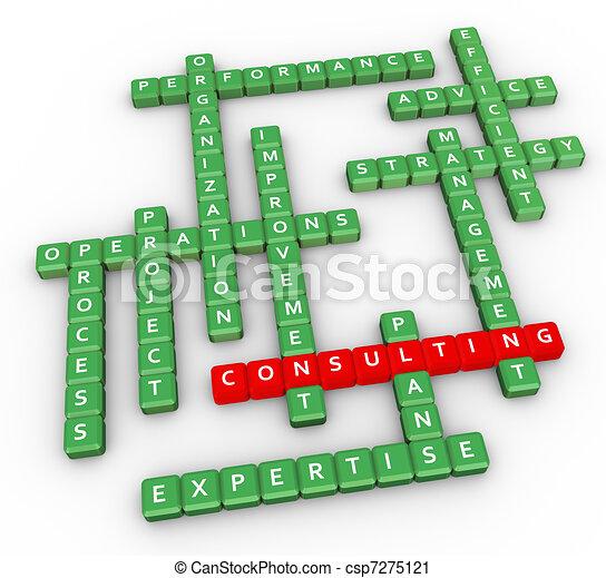 Crossword of consulting - csp7275121