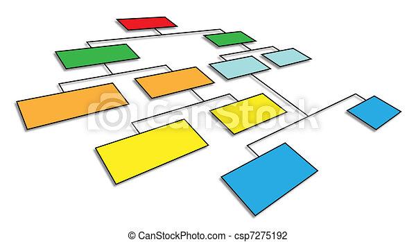 3d organizational chart - csp7275192