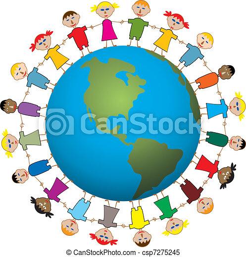 children around the world - csp7275245