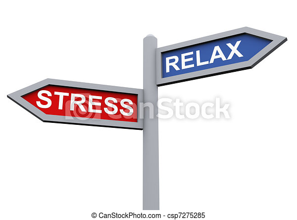 Relax and stress - csp7275285