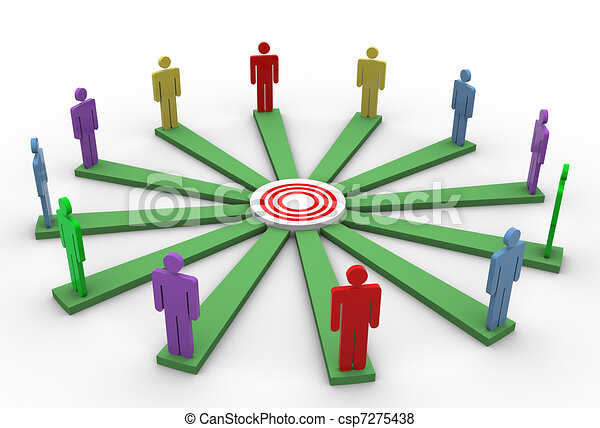 Concept of goal achievement - csp7275438