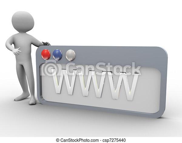 3d man and Internet browser - csp7275440