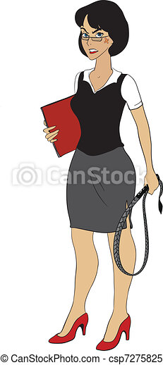 Clipart Vector of Strict business lady with wip - Very ...