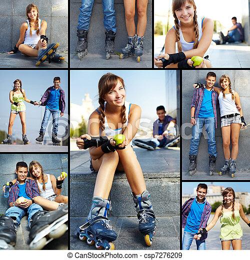 Teens at leisure - csp7276209