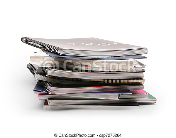 art stack of brochures on a white background - csp7276264