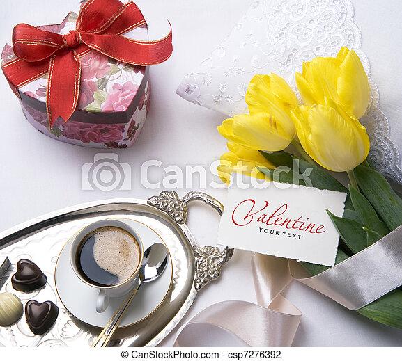Art greeting Valentine's Day card - csp7276392