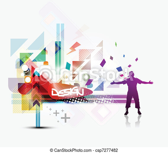 silhouette of freedom person - csp7277482