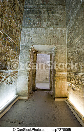 Doorway inside an ancient egyptian temple - csp7278065